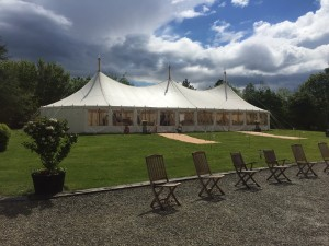 wedding marquee at Byland Abbey