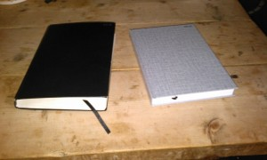 last year's and this year's diaries - spot the difference