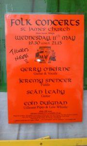 Dingle concert poster