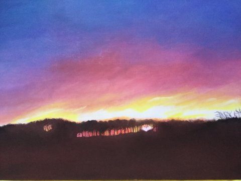Mrs Summerhouse's art : Sunrise in the park
