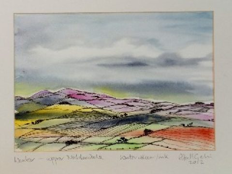 Mrs Summerhouse's art : cold spell in Nidderdale