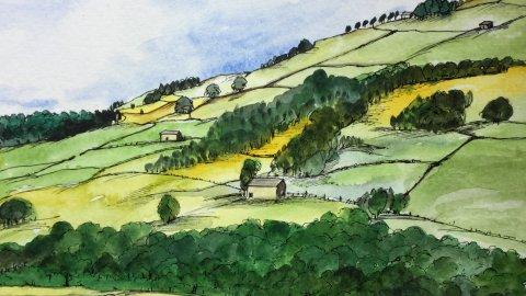 Mrs Summerhouse's art in Nidderdale
